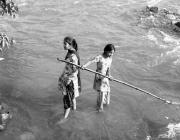 View the image:  Mother Ganga, Collecting Offerings 1